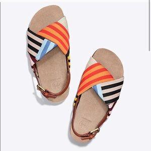 Tory Burch Corey Patchwork Sandals 6